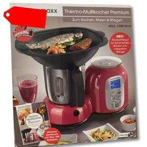 Thermo Multikocher Premium 10 in 1 Mix 1500W Küchenmaschine rot