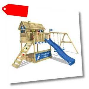 WICKEY Spielturm Stelzenhaus Smart Seaside Garten Doppelschaukel XXL-Sandkasten