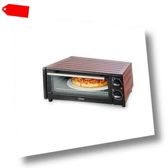 KORONA Pizzaofen für bis zu 30cm 1300 Watt Mini Backofen...