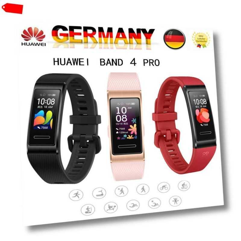 HUAWEI Band 4 PRO AMOLED Smart Watch Fitness Tracker Armband Uhr GPS Körperindex