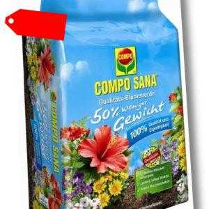 COMPO SANA® Qualitäts-Blumenerde 50 % weniger Gewicht 50 Liter