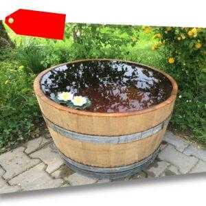 Regentonne  Miniteich Holzfaß Wasserfaß gebrauchtes Weinfaß wie neu Bottich Fass