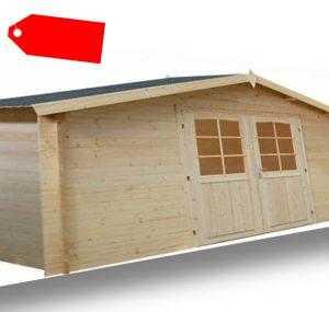 34 mm Gartenhaus Bremen Blockhaus Gerätehaus Holzhaus ca. 4x4 m Holz Datsche