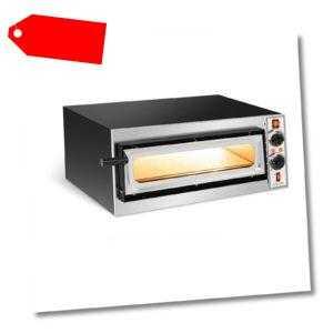 Pizzaofen Flammkuchenofen Pizza Backofen Glastür 1 Kammer 320 °C Ø...