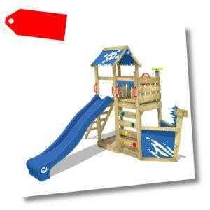 WICKEY Spielturm Klettergerüst SpookyFlyer mit Kletterwand, Sandkasten