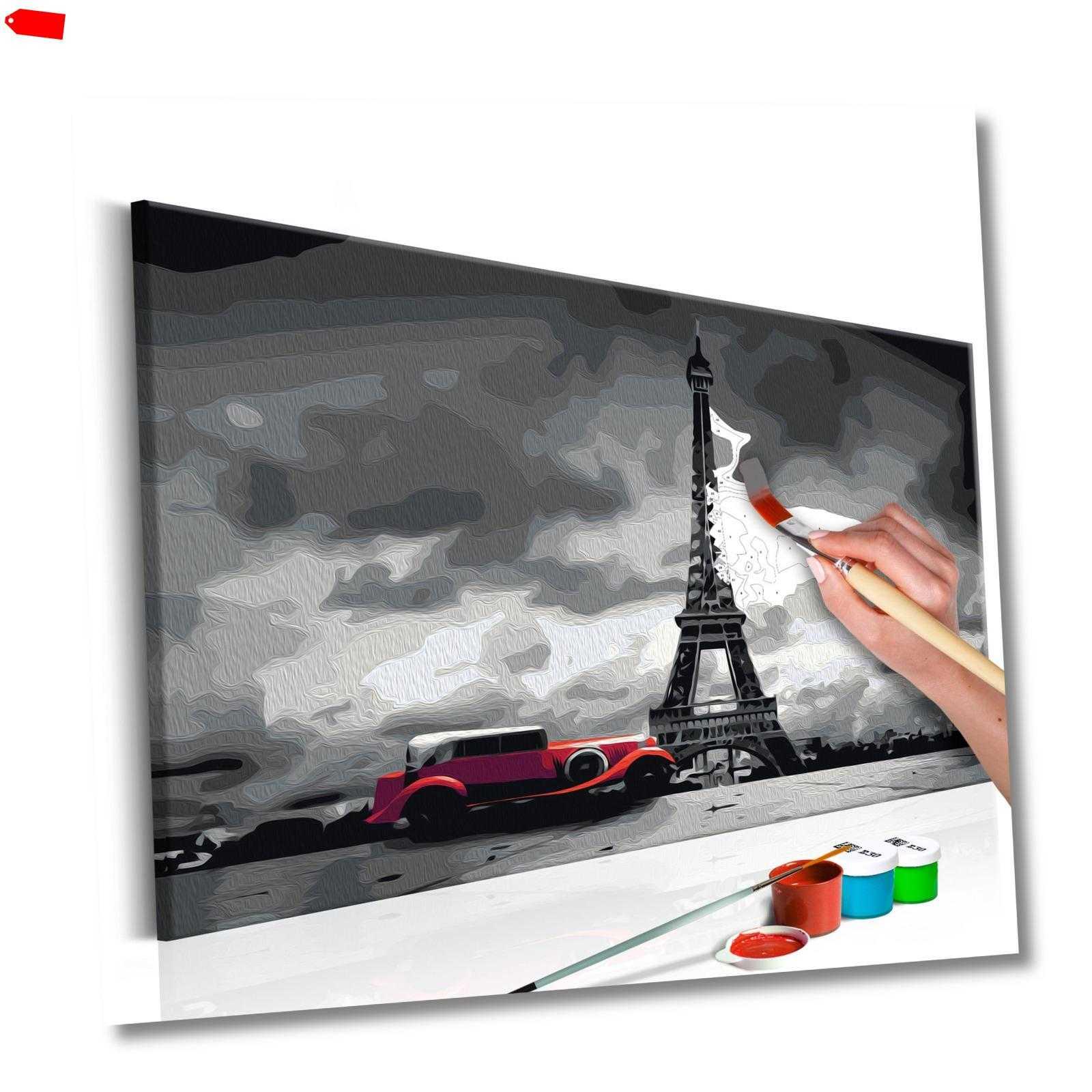 malen nach zahlen erwachsene wandbild malset mit pinsel