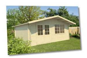 40mm Gartenhaus 500x500 cm Gerätehaus Blockhaus Holzhaus Holz Geräteschuppen