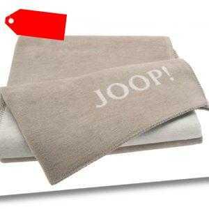 JOOP! Uni-Doubleface Wohndecke Decke 150x200 cm Sand-Pergament