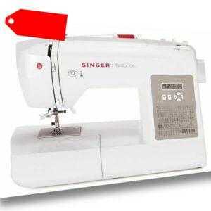 Singer Brilliance 6180 Elektronik Nähmaschine mit großem Anschiebetisch NEU