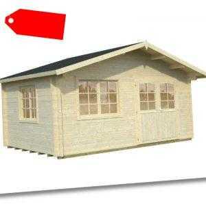70 mm Gartenhaus mit Fußboden ca. 470x470 cm Gerätehaus Schuppen Holzhaus Holz