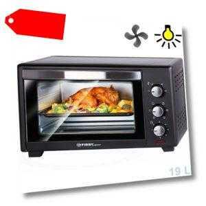 B-Ware: 19 L Mini-Backofen mit Krümelblech 1380 Watt | Pizzaofen...