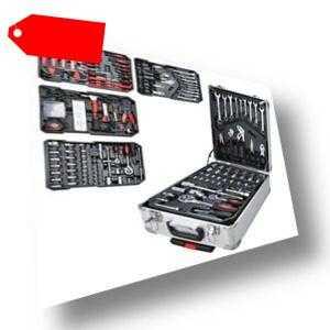 729 tlg Werkzeugkoffer Set Mit Universalmesser Rollgabelschlüssel Kombizange Box
