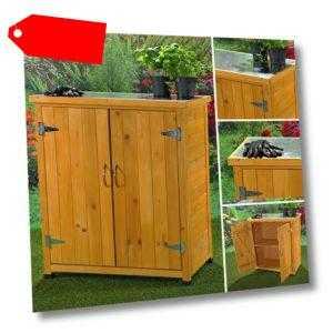 Geräteschrank Gartenschuppen Gartenschrank Werkstattschrank Gartenhaus 🔨