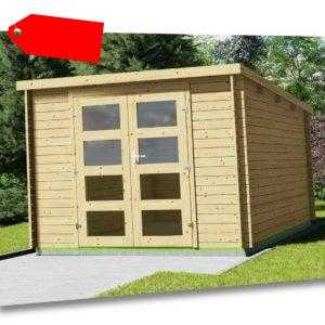 Flachdach Gartenhaus Gerätehaus 3x2.4M 28mm Holz Harz Ohne Boden EB28234oFL