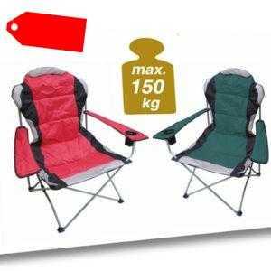 Campingstuhl DELUXE 150 Kg - Camping Klappstuhl Angel Stuhl Regiestuhl Faltstuhl