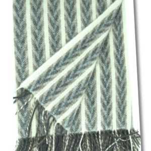 Wolldecke mit Fransen Decke Plaid Wollplaid Tagesdecke 100% Wolle
