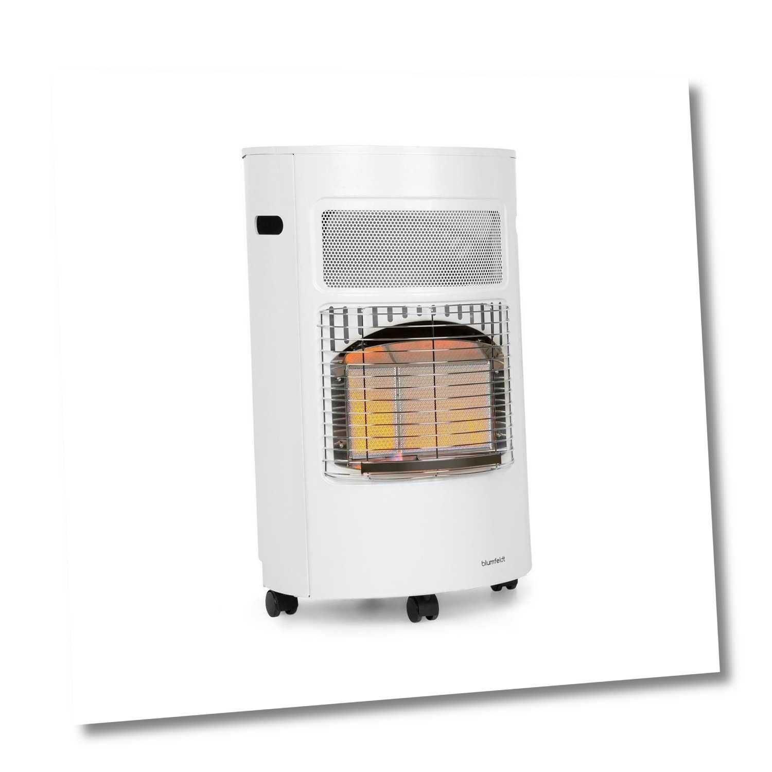 Gasheizer Heizgerät Garten Terrassen Infrarot Heizung 4200W Wärmestrahler weiß