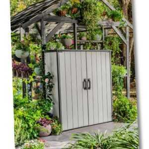 Keter Gartenschrank Premier XXL Geräteschuppen Geräteschrank Schuppen Gartenbox