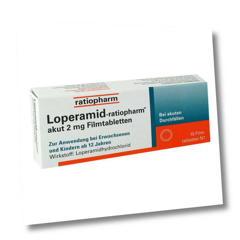 Loperamid-ratiopharm akut 2mg 10stk PZN 00251191
