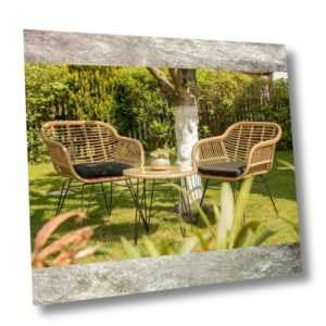 Gartenmöbel 3er Set Sitzgruppe LIVE Lounge Sessel Stuhl Terrasse Polyrattan