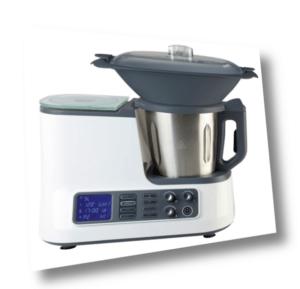 Küchenmaschine mit Kochfunktion, Waage, Dampfgaraufsatz, Garkorb...