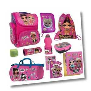 LOL Surprise Dolls Schulranzen 11tlg Set mit Federmappe Sporttasche Schulanfang