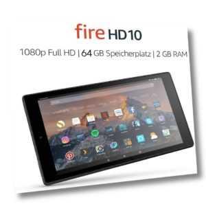 Fire HD 10-Tablet, 1080p Full HD-Display, 64 GB, Schwarz (7. Generation)