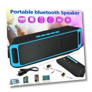 Tragbarer Wireless Bluetooth Lautsprecher Soundbox PC Handy Musikbox Radio MP3