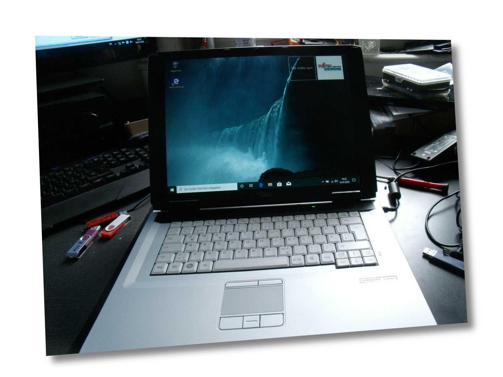 "Fujitsu Lifebook C1410 15"" Dual Core Notebook- 1,60Ghz-2GB-80GB-WLan-Win 10 Pro"
