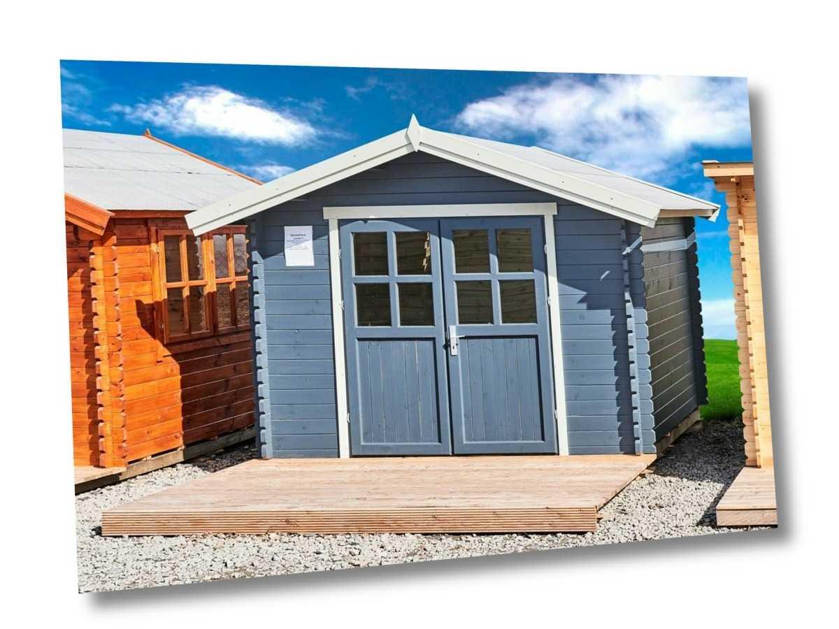35mm Gartenhaus 300x300 cm 3x3 m Gerätehaus Blockhaus inkl. Fußboden ALL IN
