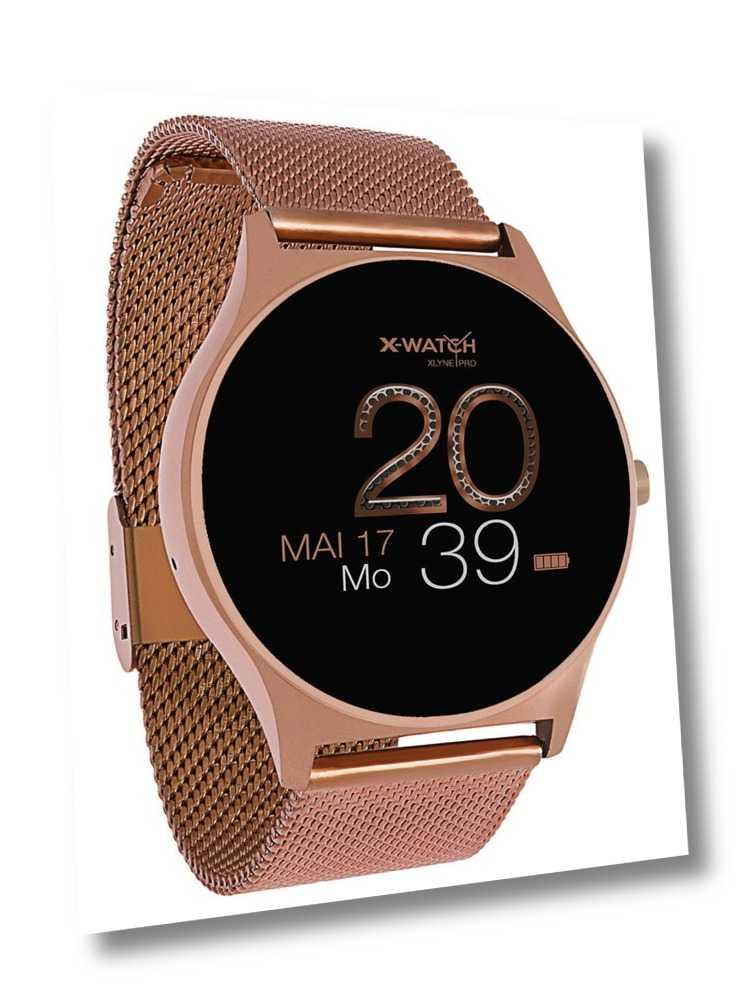 Xlyne Pro Smartwatch X-Watch Joli XW Pro Android IOS rose gold