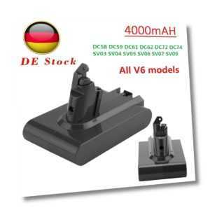 21.6V 4000mAh Li-Ion Akku für Dyson V6 DC58 DC59 DC61 DC62 965874-02 DC72 DC74