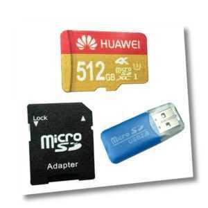 Huawei 512 GB Micro SDXC Speicherkarte SD-Adapter USB-Micro-SD-Kartenleser