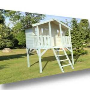Palmako Kinderspielhaus Tobi 2,1 m² 180x180cm Spielanlage Spielhaus Kinderhaus