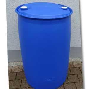 Fass Tonne Wasserfass Regenwasserfass Spundfass 200 L blau Kunststoff!