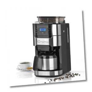 Barista Kaffeemaschine Mahlwerk Isolierkanne Kaffeeautomat 1000...