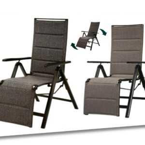 Relaxsessel Klappsessel Aluminium Gartenstuhl Stuhl Campingstuhl Hochlehner