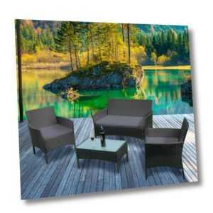 Polyrattan Rattan Gartenmöbel Garnitur Sitzgruppe Modern Lounge Rattanmöbel Set