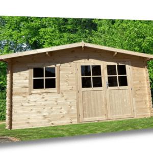 28mm Gartenhaus 400x300 cm 4x3 m Gerätehaus Holzhaus Blockhaus