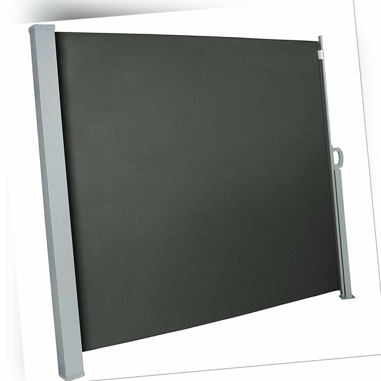 Seitenmarkise Sonnenschutz Sichtschutz Windschutz Alu Terrasse UV Anthrazit Neu