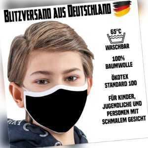 Premium-Mund-Nasen-Maske Fashion Mask Mundschutz Kinder waschbar Öko Baumwolle