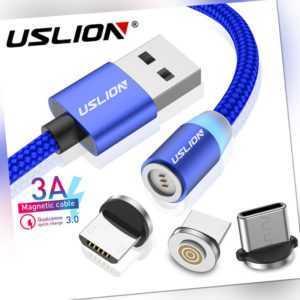 3A Schnell Ladekabel Magnetische Type C USB Micro Datenkabel Für Samsung Huawei