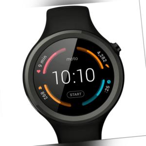 Motorola Moto 360 Sport Smartwatch schwarz Armbanduhr Fitnessuhr Gear Uhr
