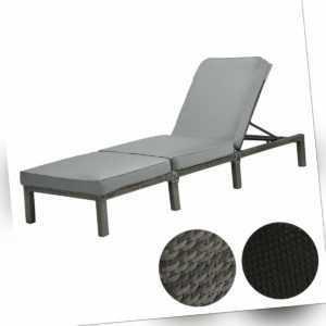SVITA PEACH Polyrattan Sonnenliege Gartenliege Relaxliege Polsterauflage Liege