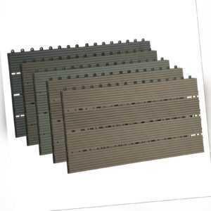 WPC Steckfliese Terrassenfliesen 30x60cm Terrassendielen Fliese Bodenbelag#1814a