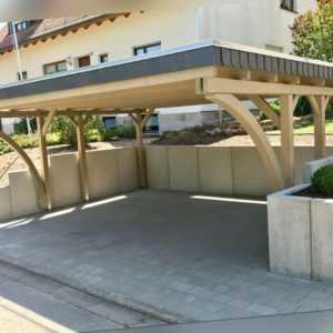 Doppelcarport 6x5, Schneelast 85 oder 125 kg/m², ca. 610 x 510 cm, Fichte unbeh.
