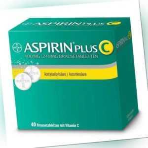 Aspirin Plus C Brausetabletten 40 St PZN: 3464237