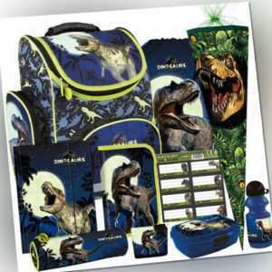Dinosaurier Dino Ranzen Schulranzen Rucksack Tornister Set mit Schultüte 10 tlg