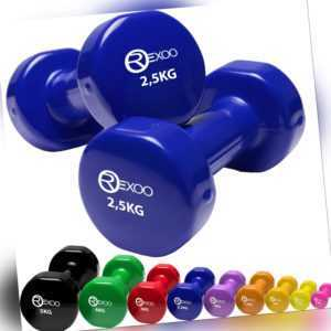 Rexoo 2er-Set Vinyl Hanteln Gymnastikhantel Kurzhanteln Hanteln Aerobic Fitness