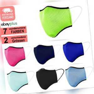 3D Sportmaske Behelfsmundschutz Mundbedeckung Atem Mund Nasen Maske Waschbar NEU